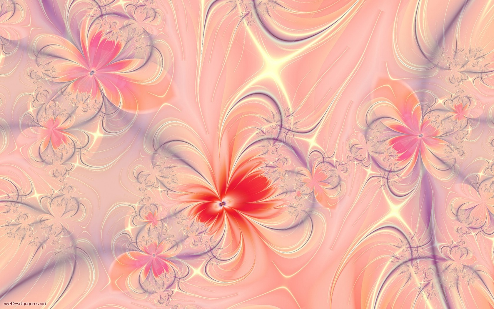 pretty pink flower wallpapers