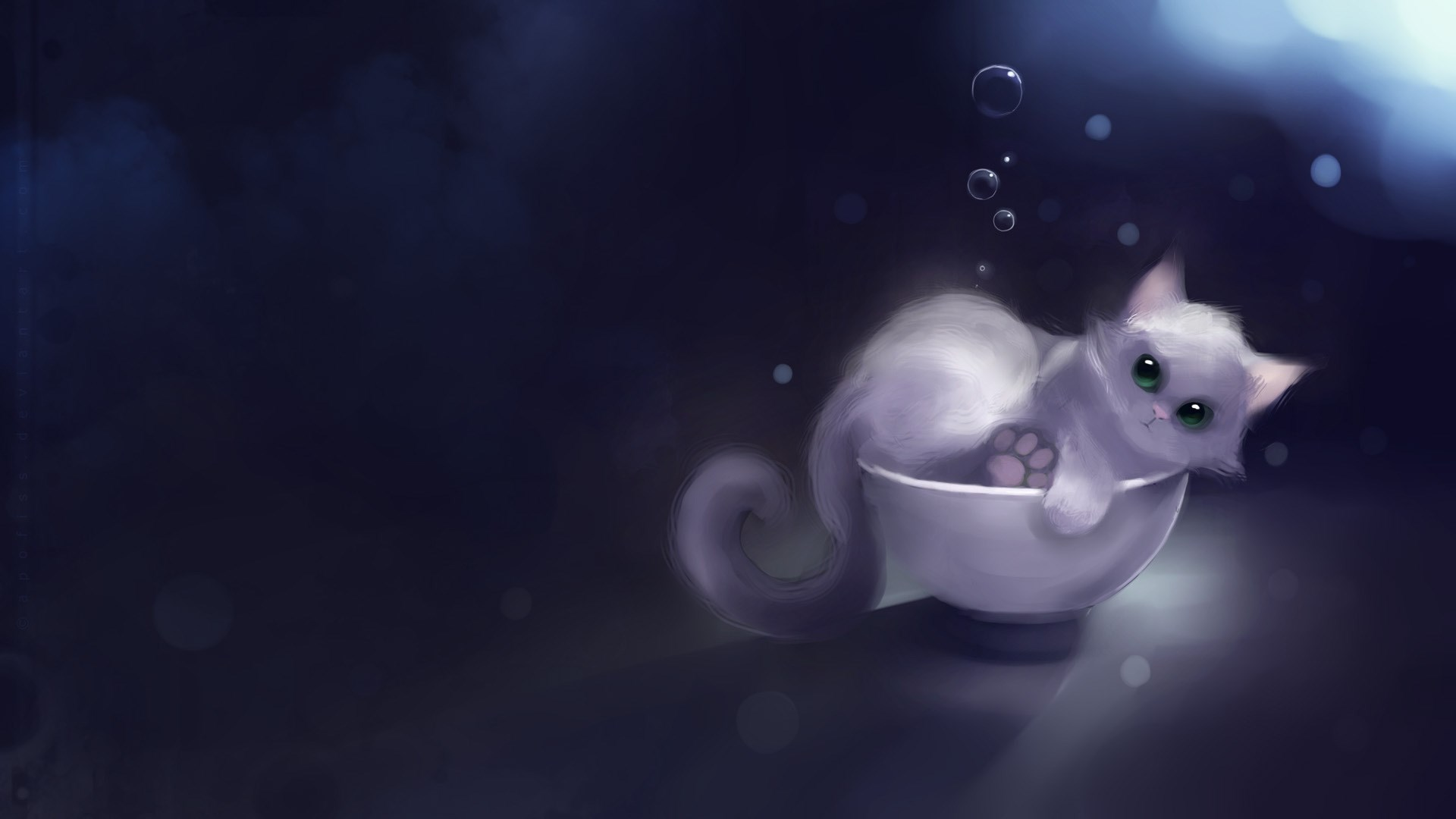 cute cup cat