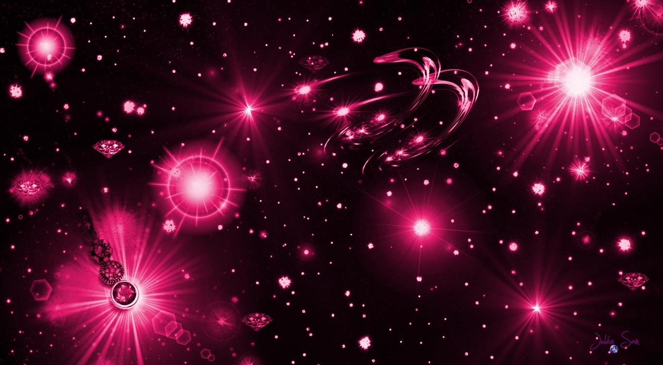 hot starry pink wallpapers