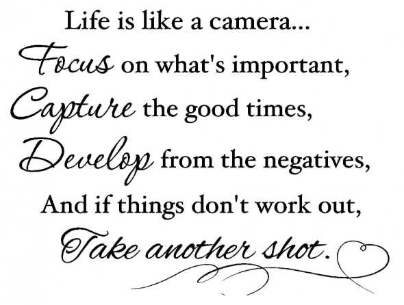 life is a camera