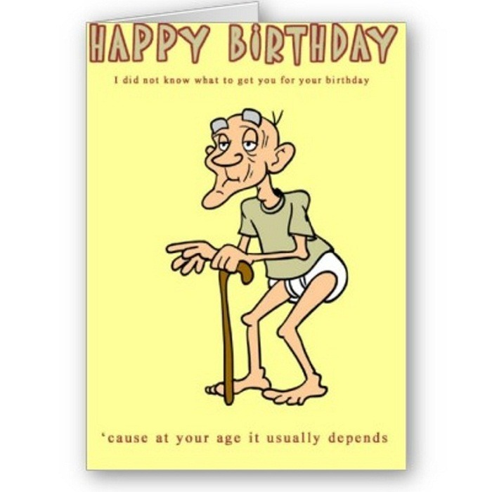 Funny Old Age Birthday Wish