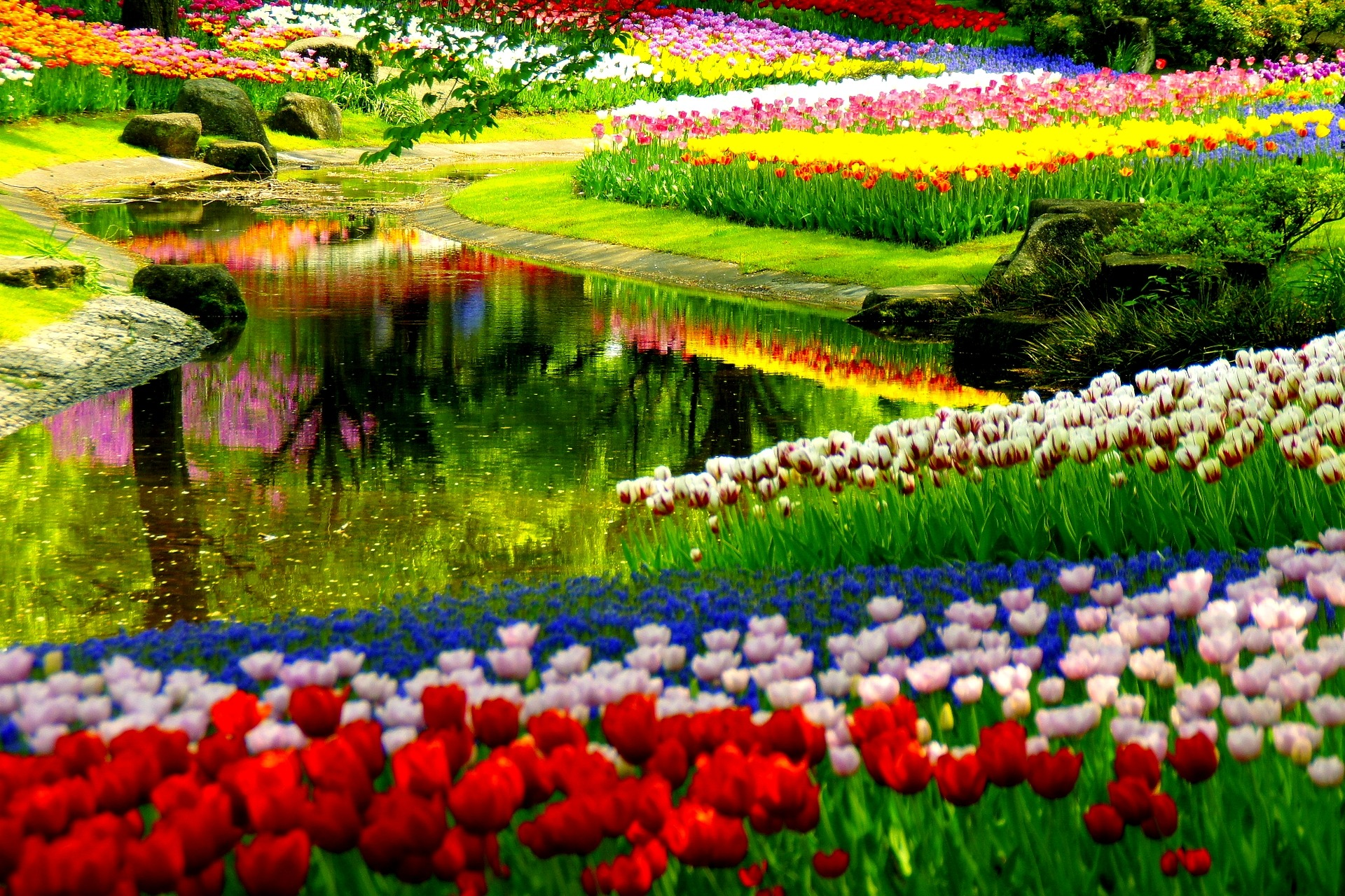 35 beautiful spring pictures and wallpapers for Garden design windows 7