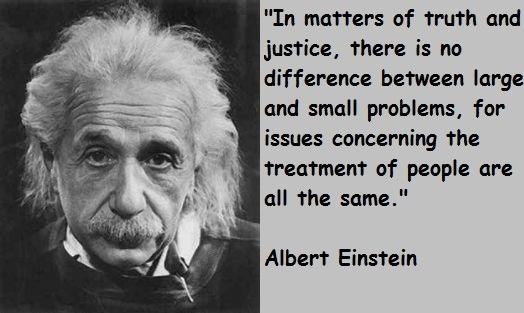 Albert-Einstein justice Quotes
