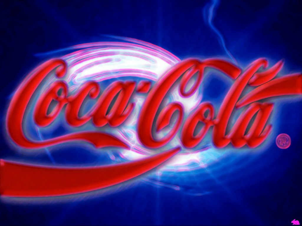 Blue Coca Cola Wallpaper