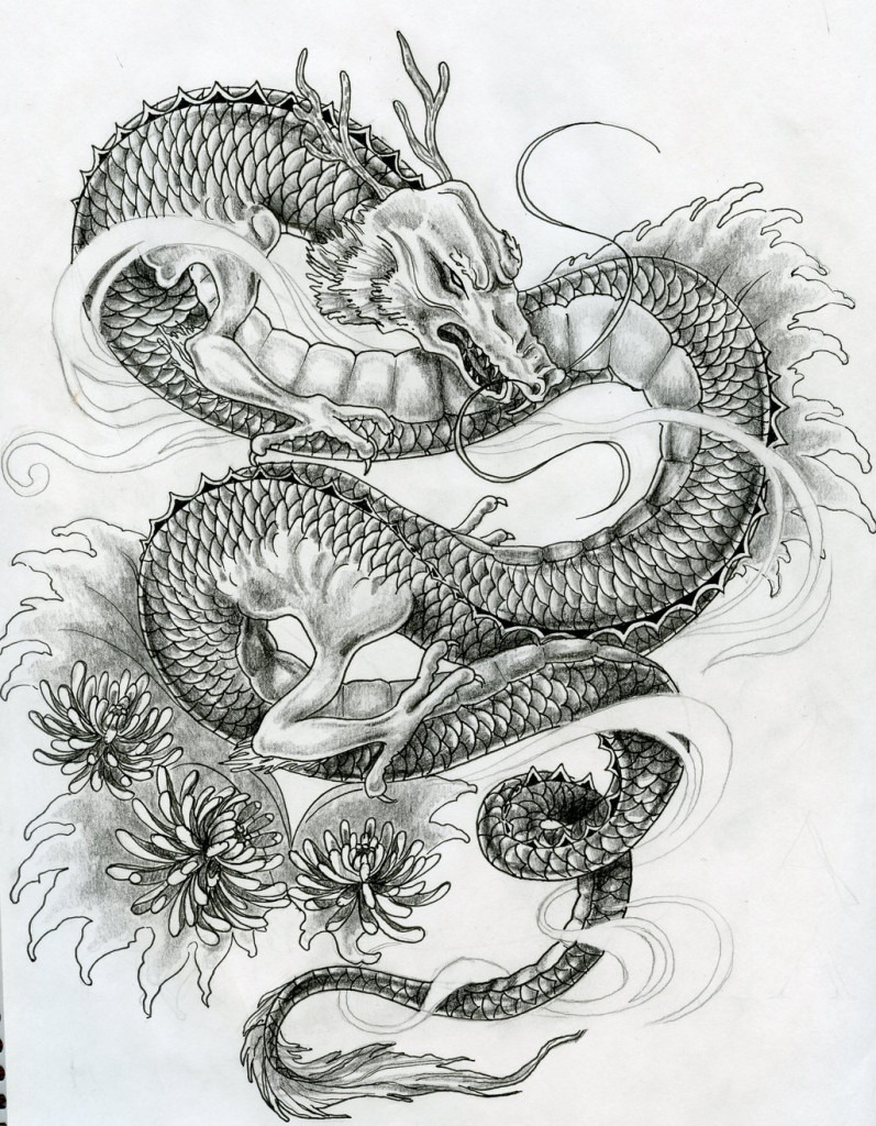 Vintage-Dragon-Tattoo