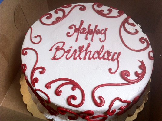 birthday red velvet cake