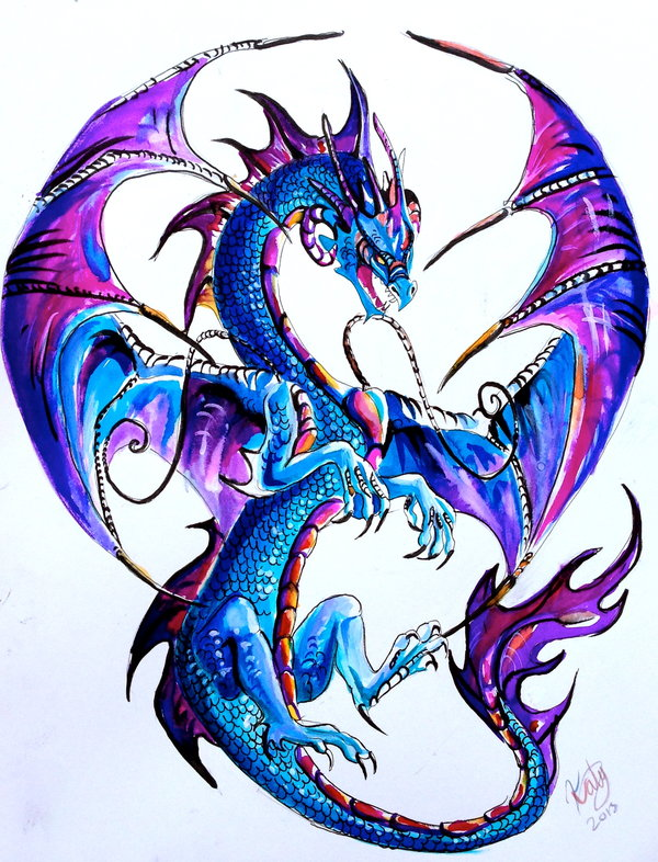 western dragon tattoo