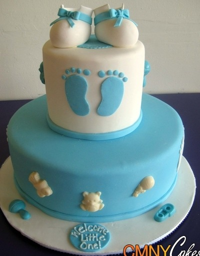Boy baby shower cake