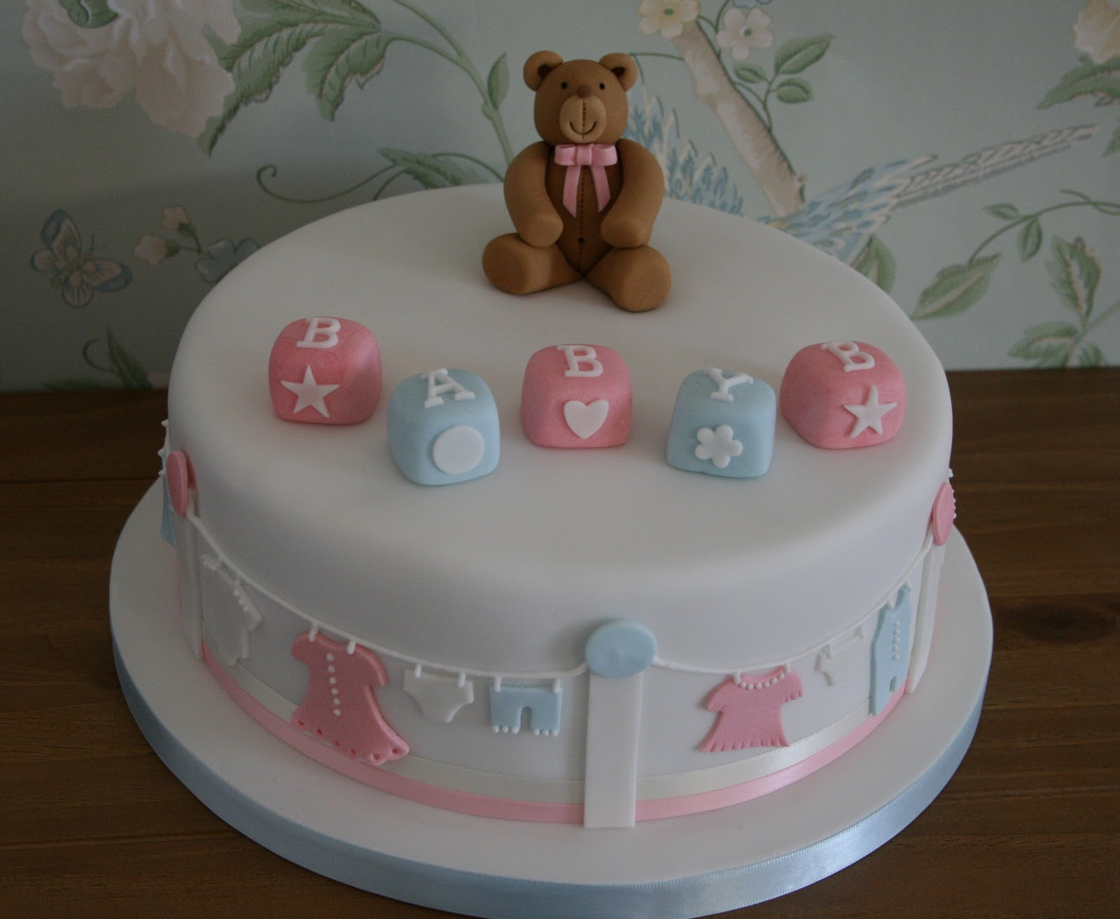 70 baby shower cakes and cupcakes ideas for Baby shower cake decoration ideas