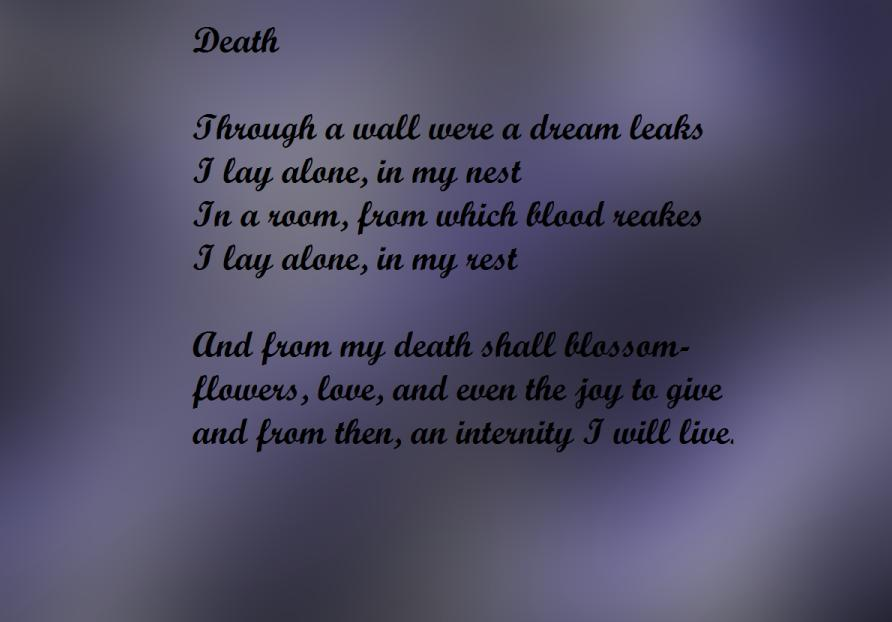 Eternal - Death Poem