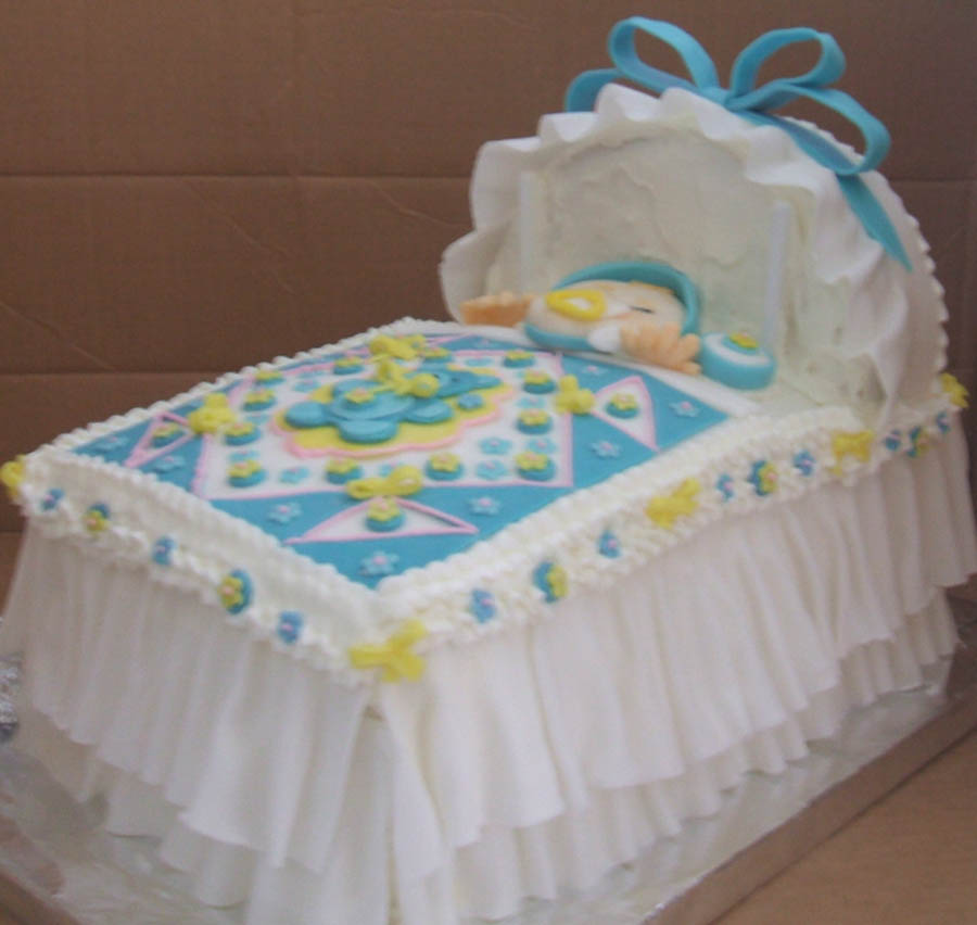 70 baby shower cakes and cupcakes ideas for Baby cakes decoration ideas