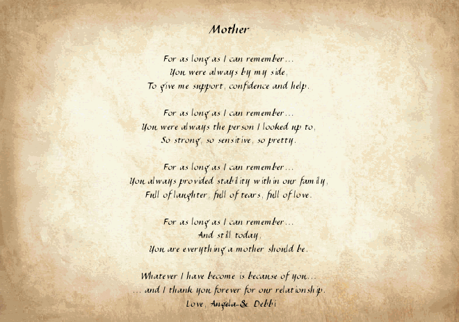 Preferred 30 Touching Mothers Day Poems From Kids IM51