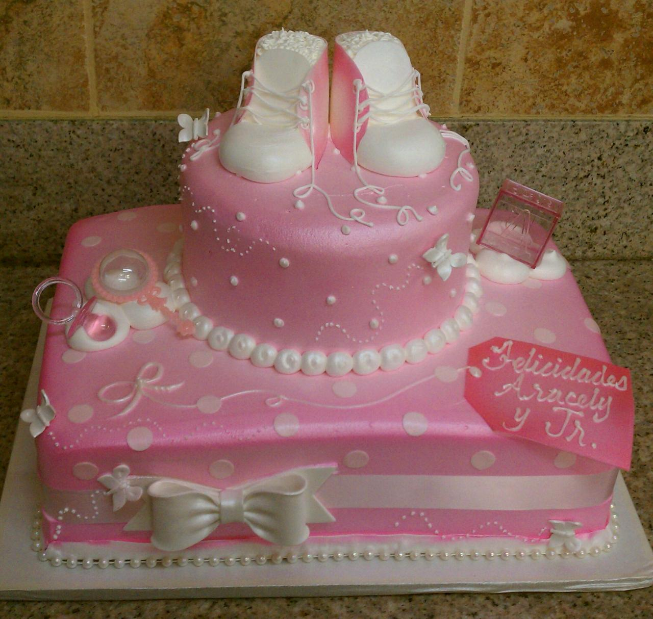 Girl baby shower cake ideas for Baby shower cake decoration idea