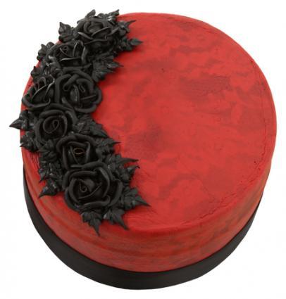 Red Velvet Goth Cake