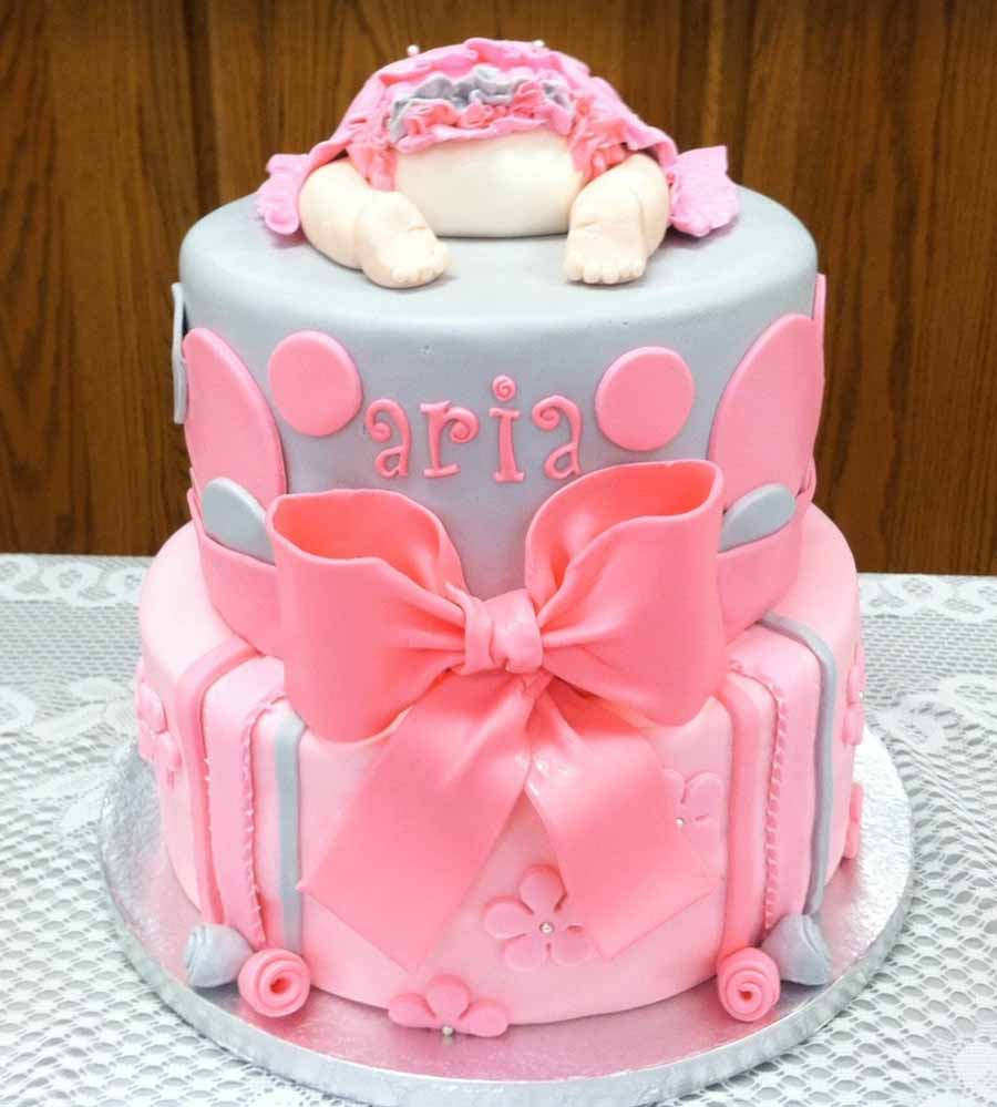 70 baby shower cakes and cupcakes ideas for Baby shower cake decoration idea