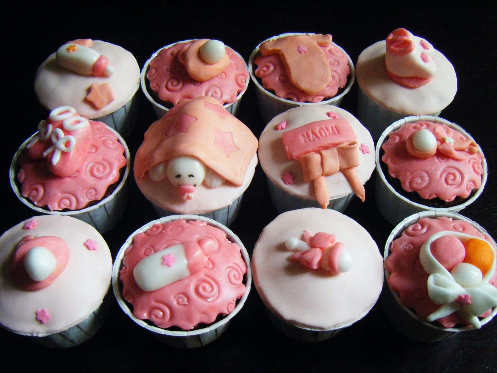 baby shower boy girl cakes cupcakes