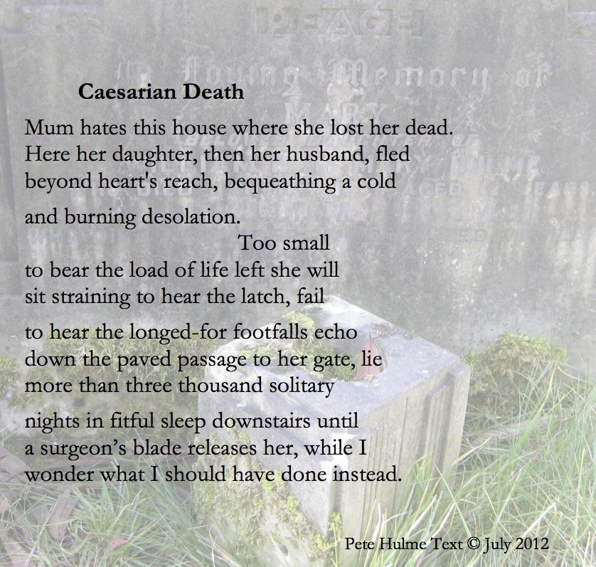 caesarian poem about death