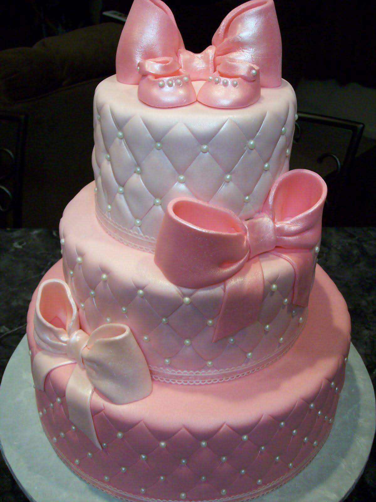 girl baby shower cakes decorating