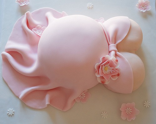 girl shower cake pregnant belly