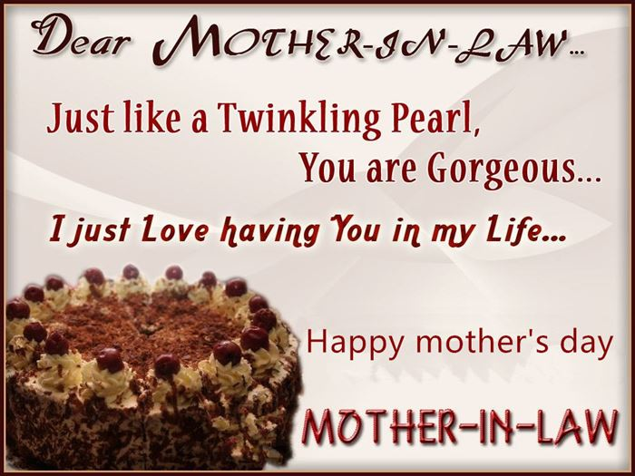 happy mothers day card mother in law