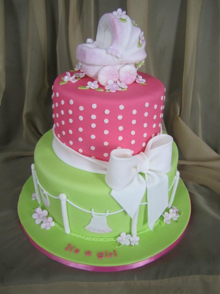 Cake Decorating Baby Shower Girl : 70 Baby Shower Cakes and Cupcakes Ideas