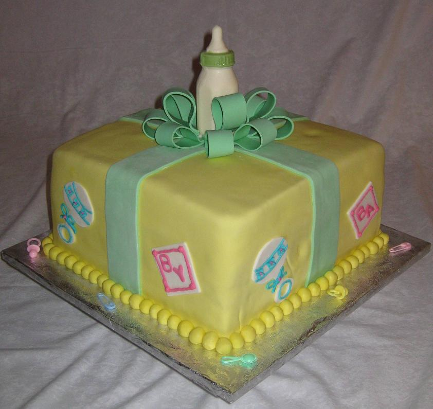 large baby shower bottle cake