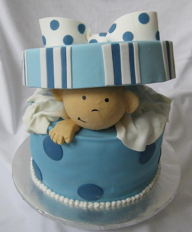 70 baby shower cakes and cupcakes ideas for Baby boy cake decoration