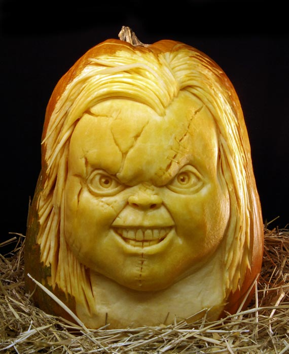 Chucky Halloween Carving Ideas
