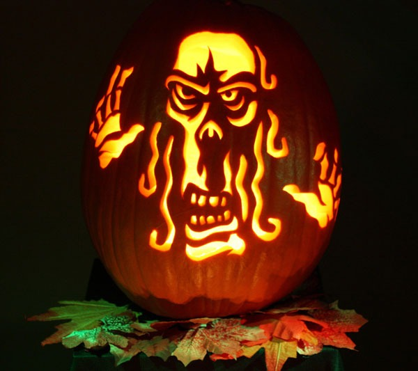 Horror halloween pumpkin carving