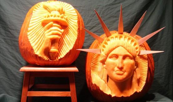 Liberty Statue Halloween Pumpkin