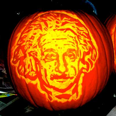 Pumpkin Carving Albert Einstein