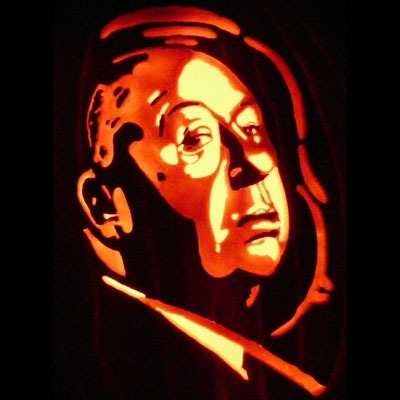 Pumpkin Carving Alfred Hitchcock