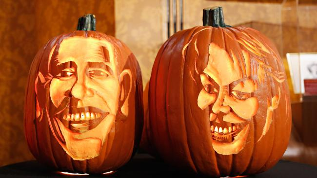 Obama carved pumpkin