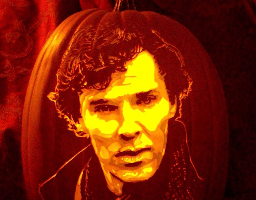 Pumpkin Carving Benedict Cumberbatch
