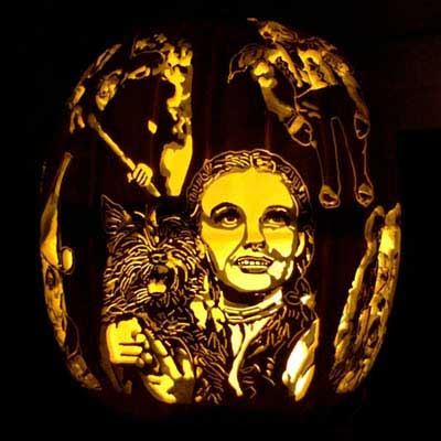 Pumpkin Carving ChuckyJudy Garland