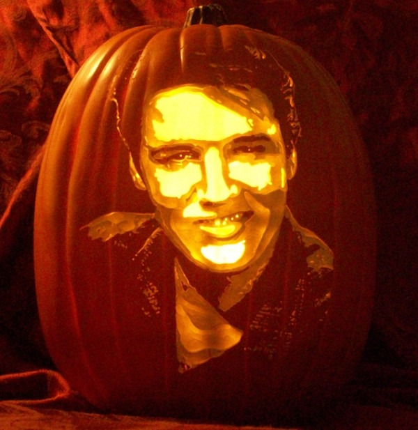 Pumpkin Carving Elvis
