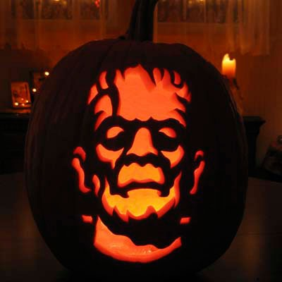 Pumpkin Carving Frankenstein