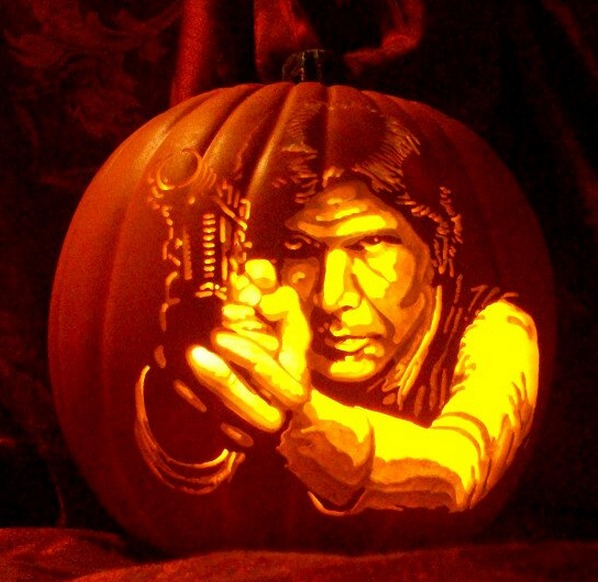 Pumpkin Carving Harrison Ford