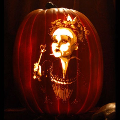 Pumpkin Carving Helena Bonham Carter