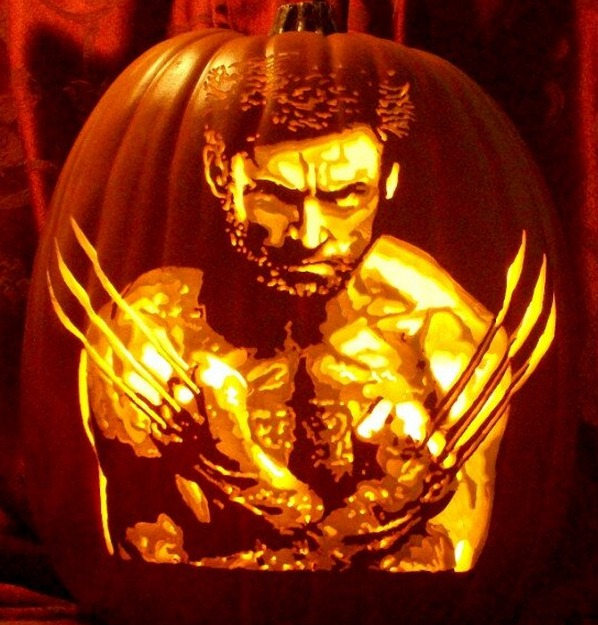 Pumpkin Carving Hugh Jackman