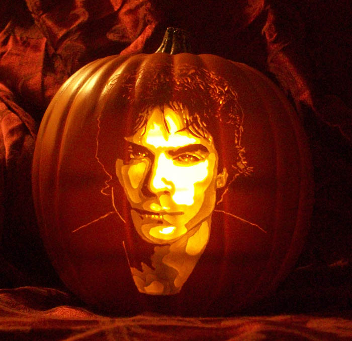 Pumpkin Carving Ian Somerhalder