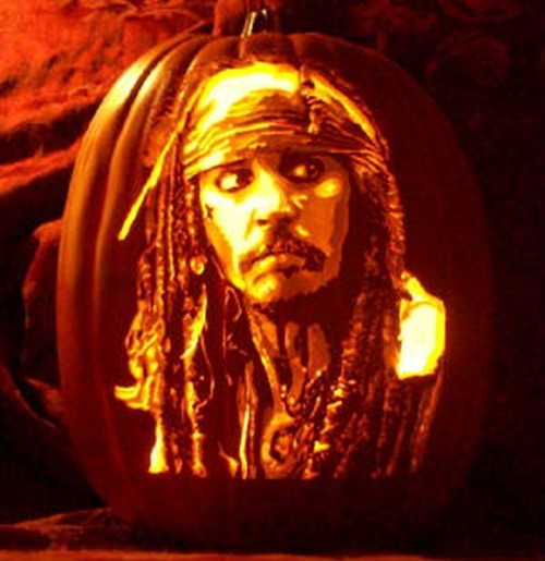 Pumpkin Carving Jack Sparrow