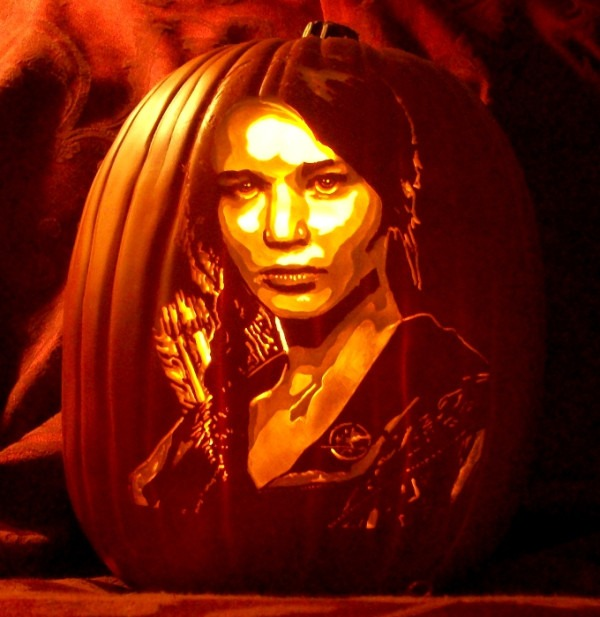 Pumpkin Carving Jennifer Lawrence