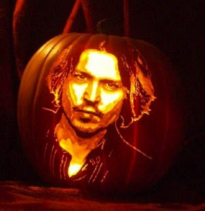 Pumpkin portraits Johnny Depp