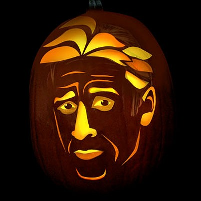 Pumpkin Carving Jon Stewart