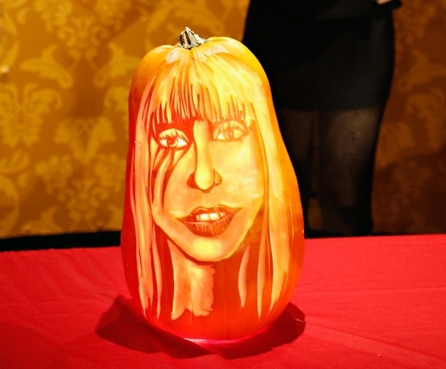 Pumpkin Carving Lady Gaga