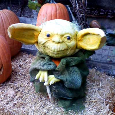Pumpkin Carving Master Yoda