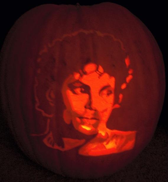 Pumpkin portraits Michael Jackson