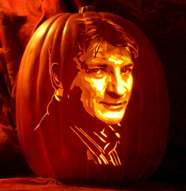 Pumpkin Carving Nathan Fillion