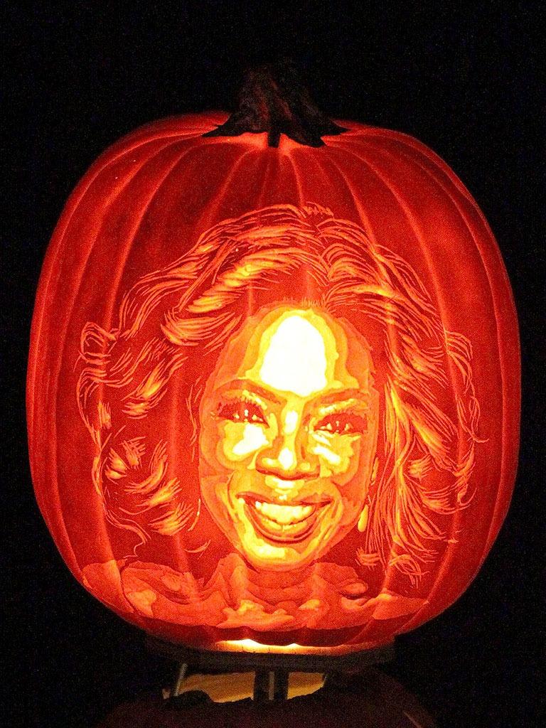 Pumpkin Portraits Oprah Winfrey
